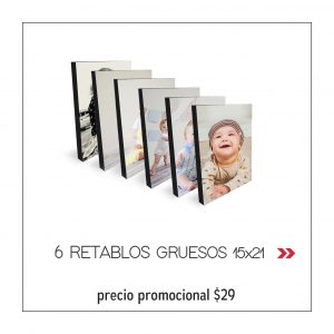 PROMO5 6 RET. GRUESOS 15X21 x 29USD.